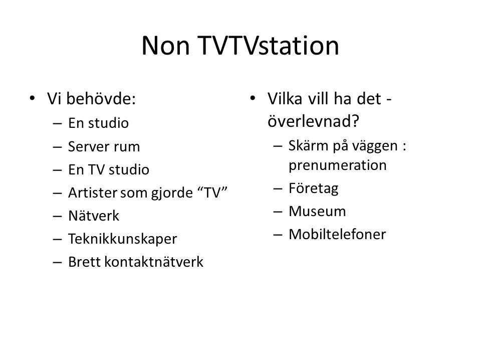 Non TVTVstation Vi behövde: Vilka vill ha det - överlevnad En studio