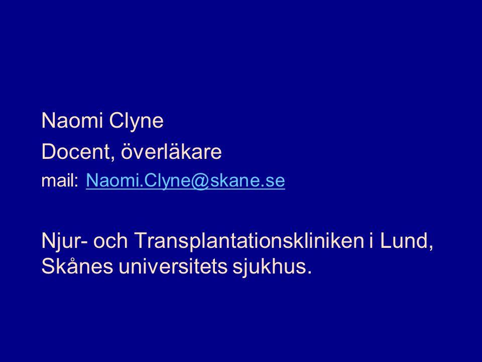 Naomi Clyne Docent, överläkare