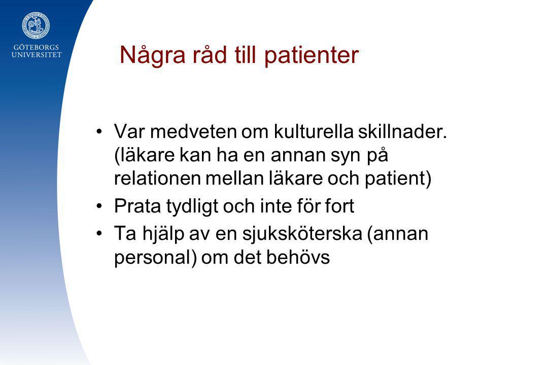Några råd till patienter