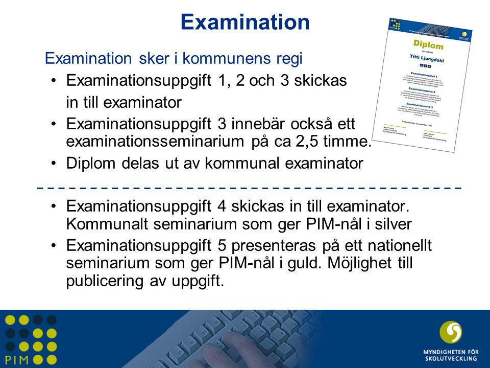 Examination Examination sker i kommunens regi