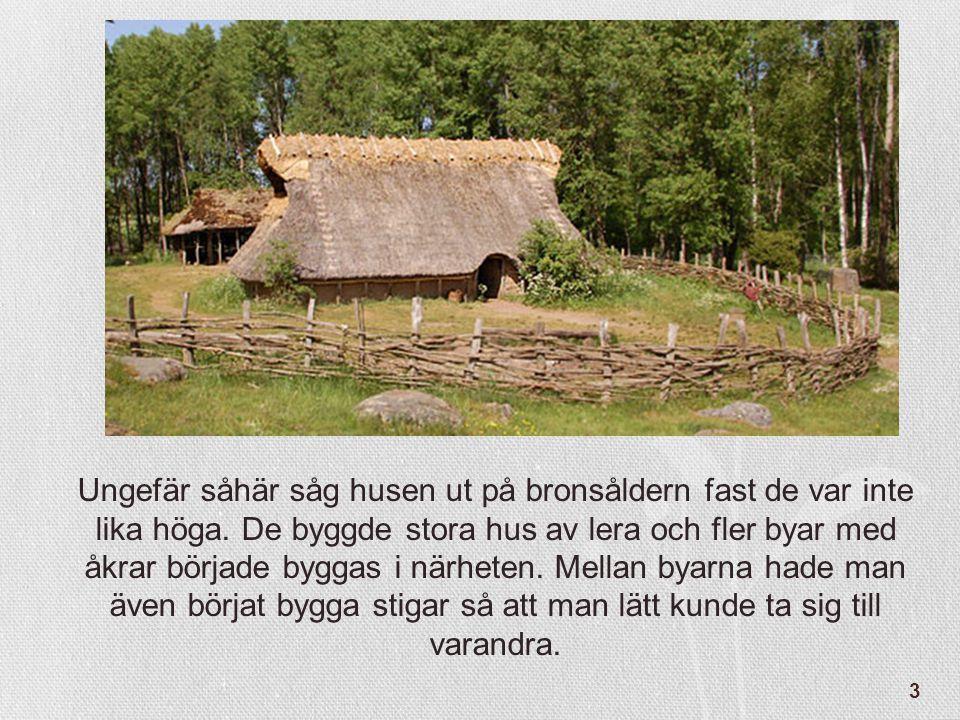 Ungefär såhär såg husen ut på bronsåldern fast de var inte lika höga