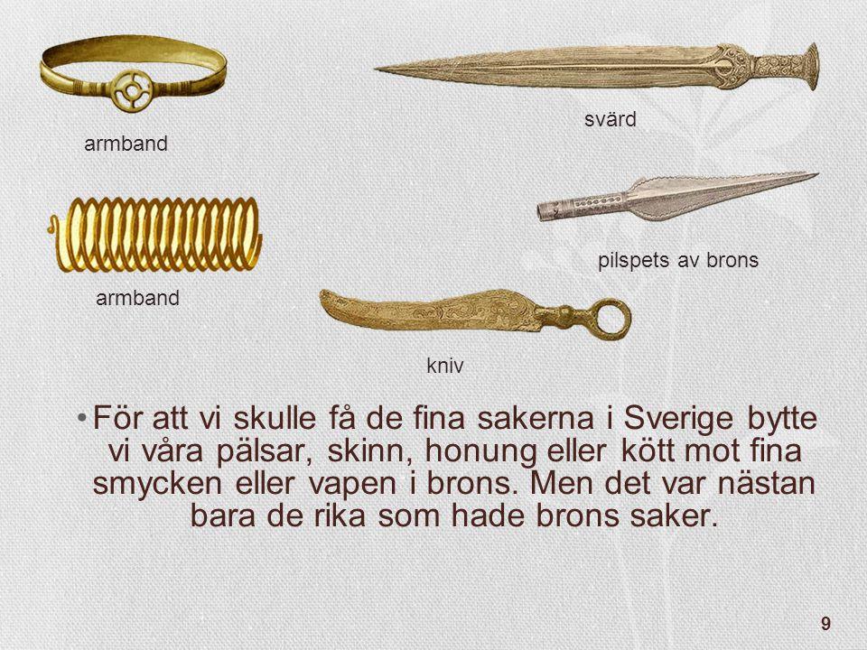 svärd armband. pilspets av brons. armband. kniv.