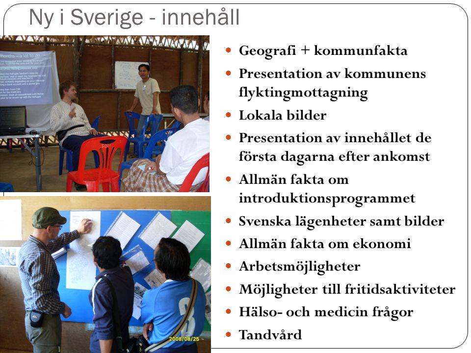 Ny i Sverige - innehåll Geografi + kommunfakta