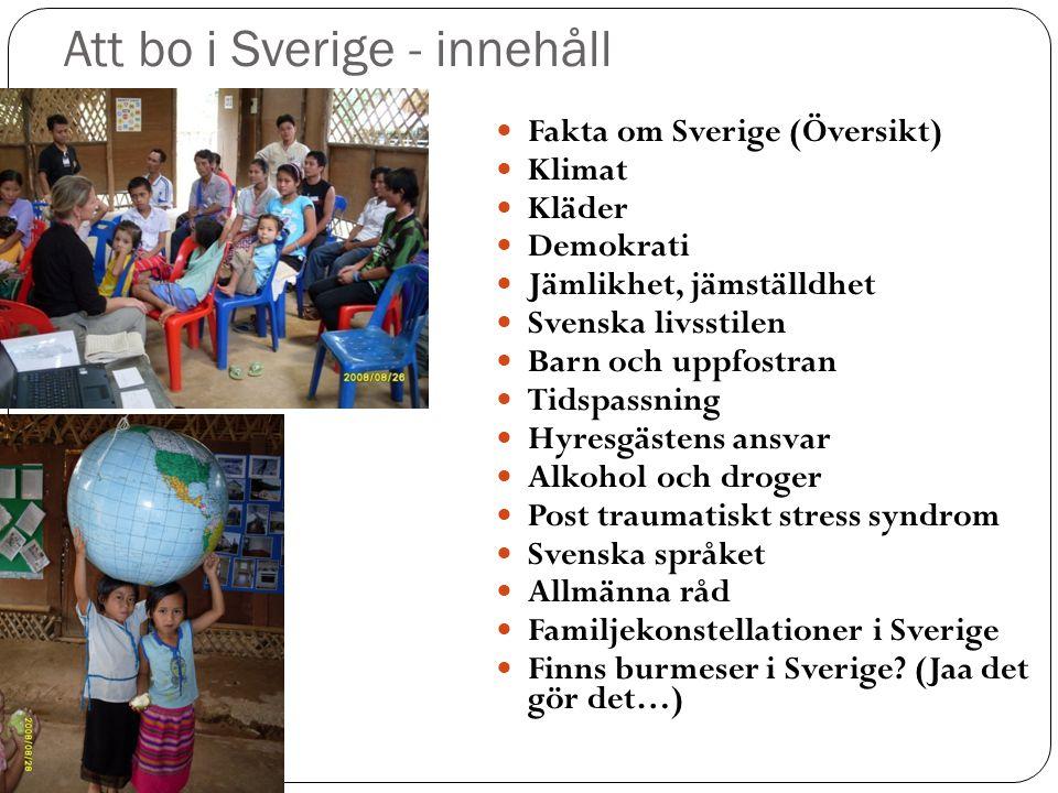 Att bo i Sverige - innehåll