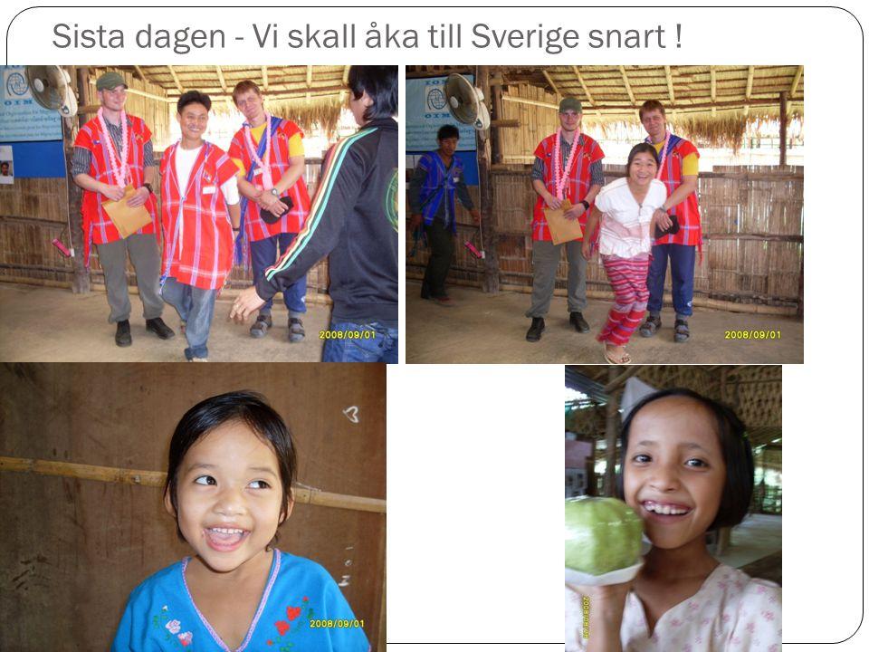 Sista dagen - Vi skall åka till Sverige snart !