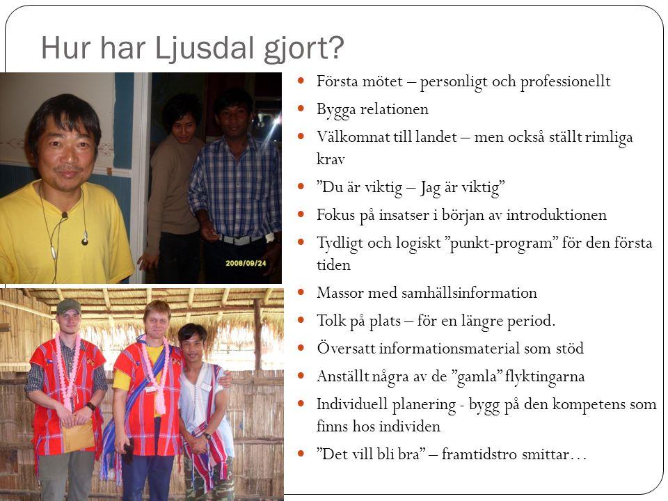 Hur har Ljusdal gjort Första mötet – personligt och professionellt