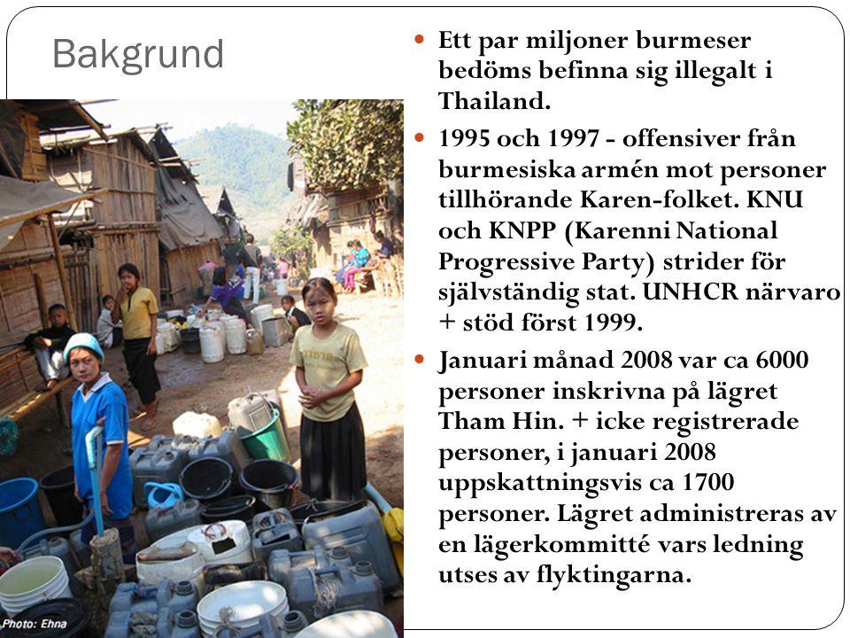 Bakgrund Ett par miljoner burmeser bedöms befinna sig illegalt i Thailand.