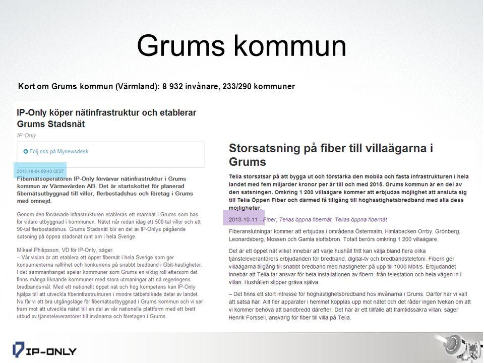 Grums kommun Vänerns nordvästra strand 9000 invånare