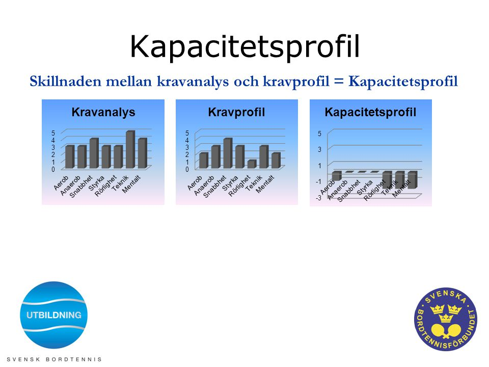 Kapacitetsprofil Skillnaden mellan kravanalys och kravprofil = Kapacitetsprofil