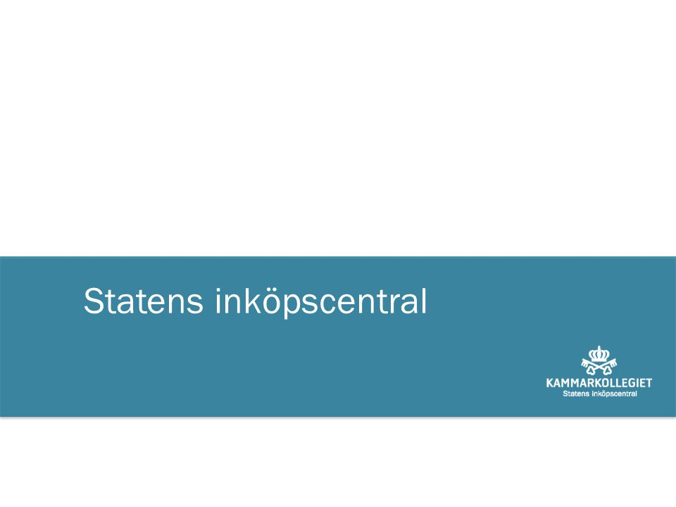 Statens inköpscentral