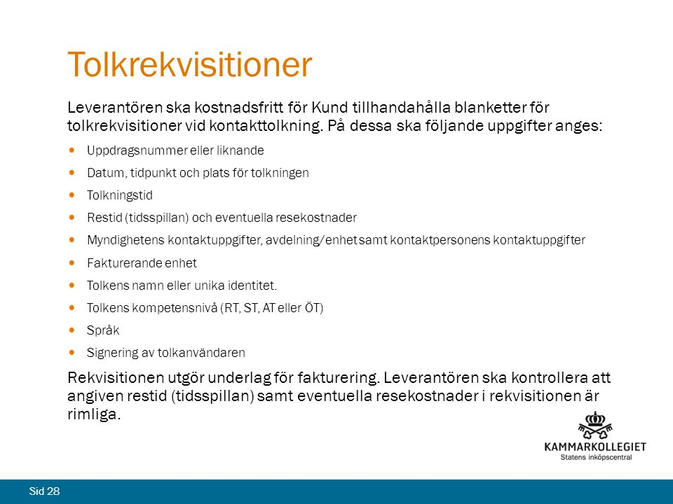 Tolkrekvisitioner