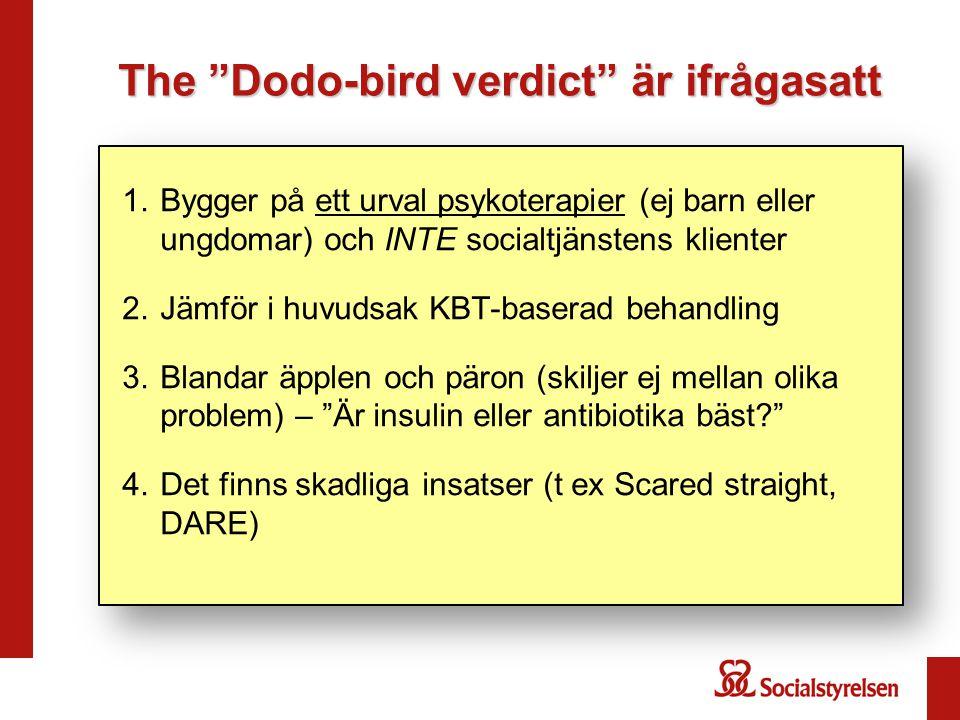The Dodo-bird verdict är ifrågasatt
