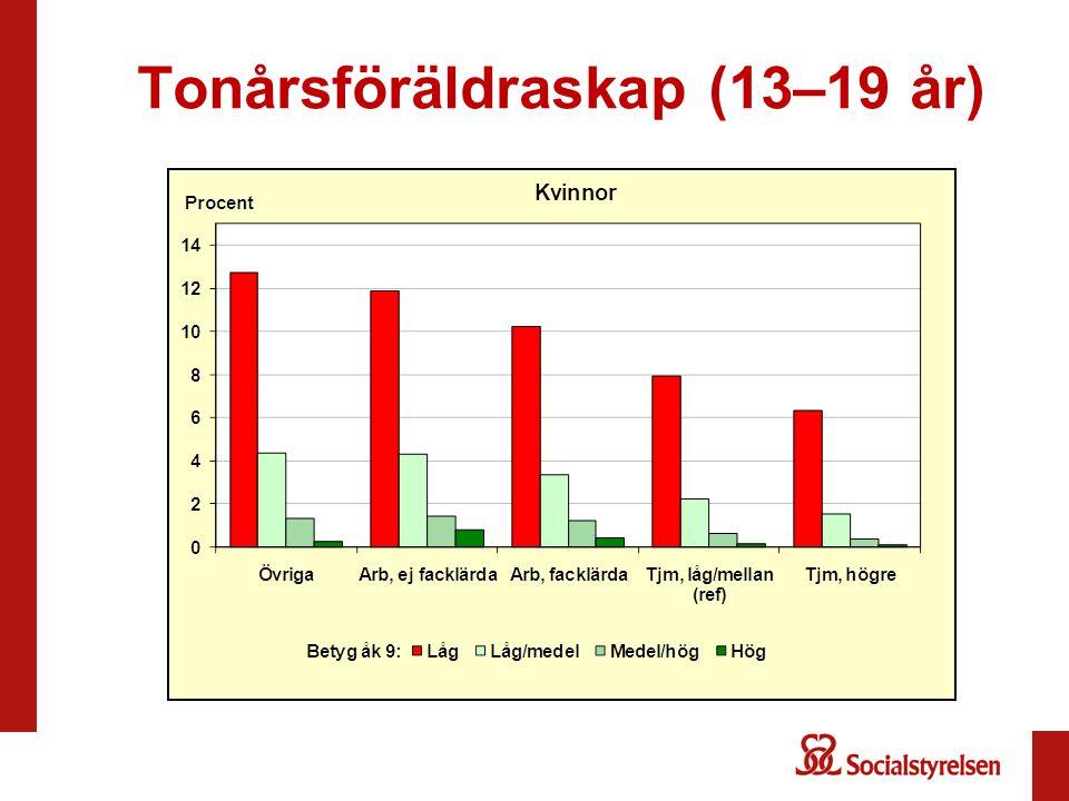 Tonårsföräldraskap (13–19 år)