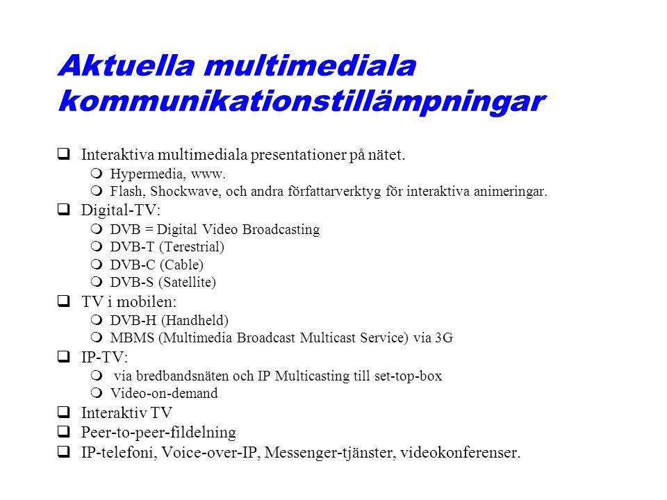 Aktuella multimediala kommunikationstillämpningar