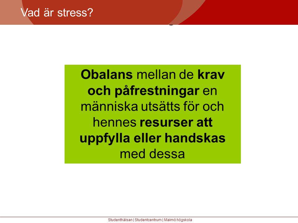 Vad är stress Större mångfald.
