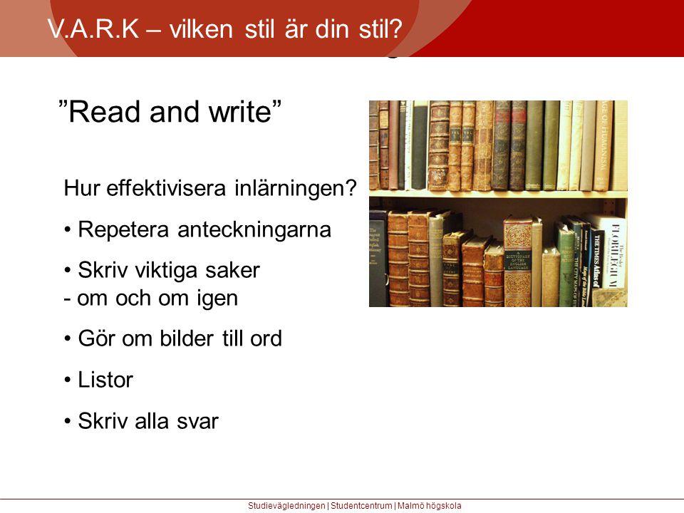 Större mångfald Read and write V.A.R.K – vilken stil är din stil