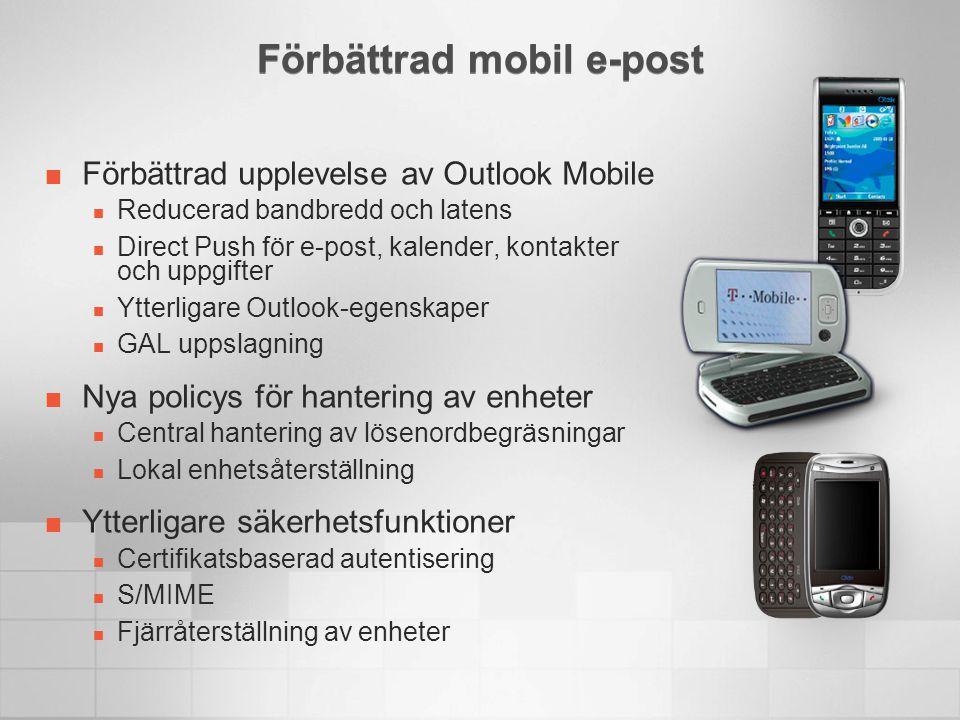 Förbättrad mobil e-post