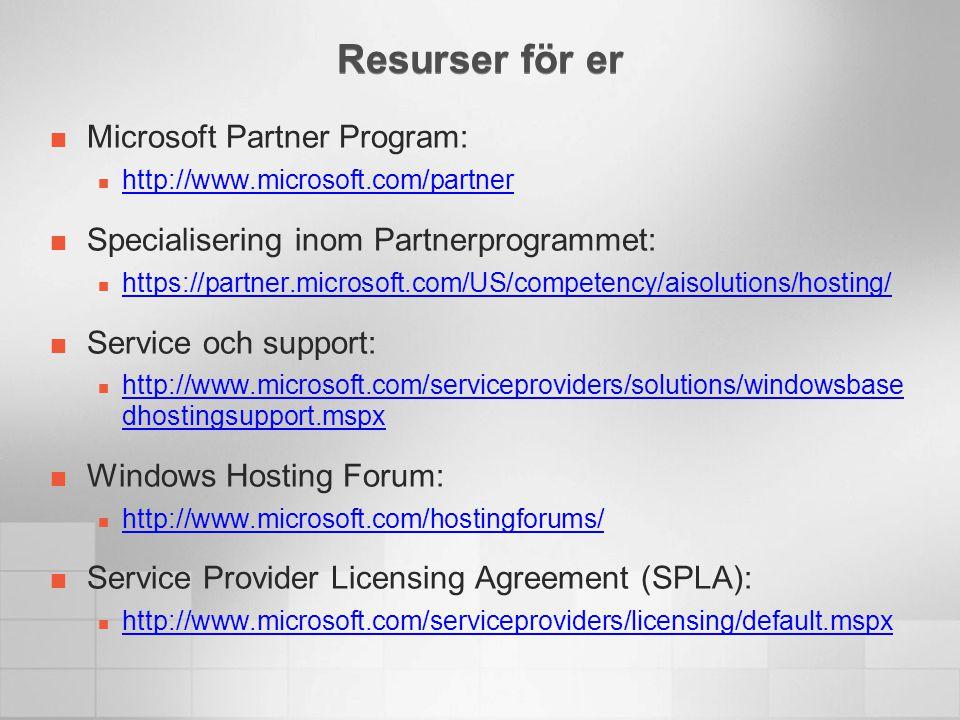 Resurser för er Microsoft Partner Program:
