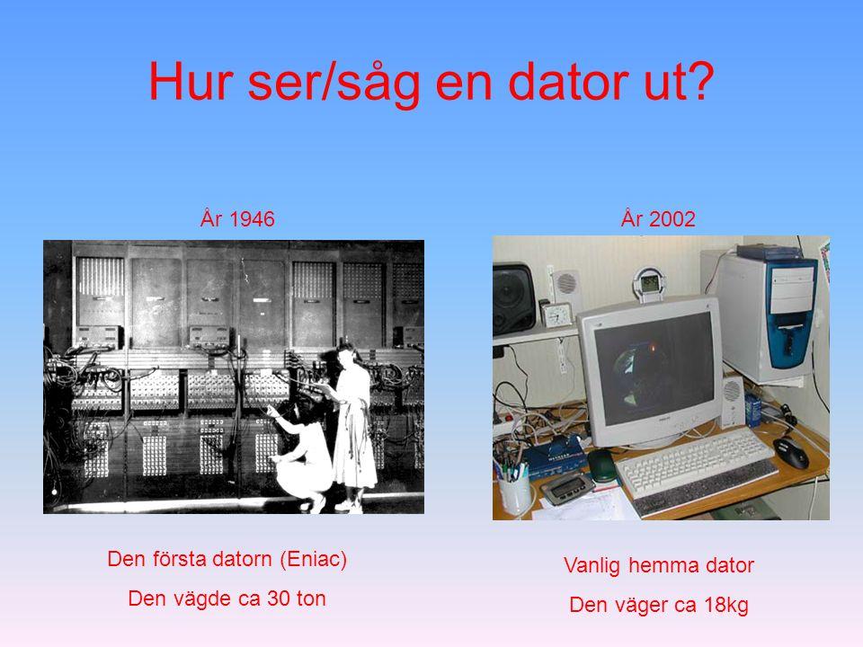 Den första datorn (Eniac)