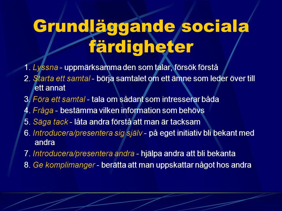 Grundläggande sociala färdigheter