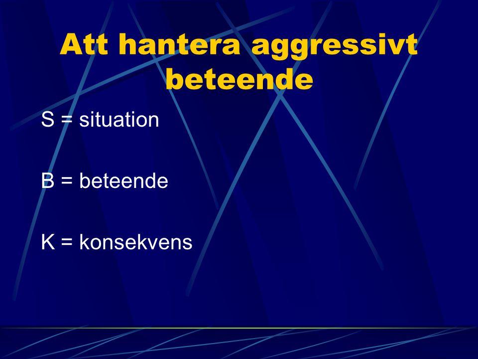 Att hantera aggressivt beteende