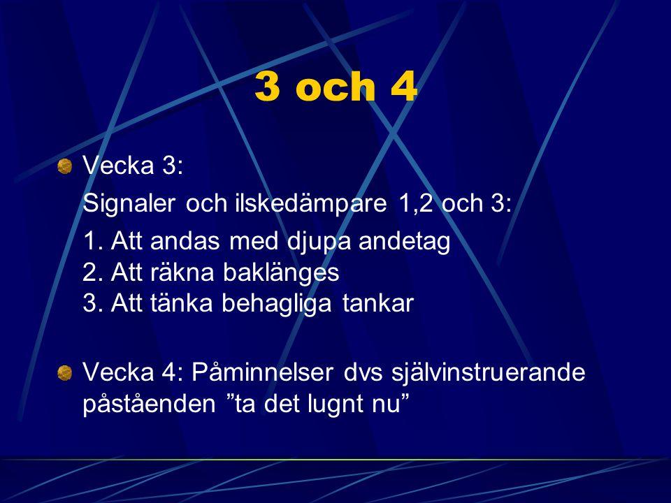 3 och 4 Vecka 3: Signaler och ilskedämpare 1,2 och 3: