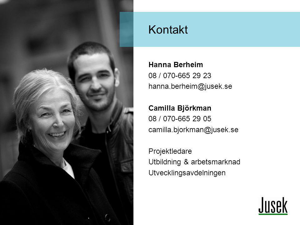 Kontakt Hanna Berheim 08 / 070-665 29 23 hanna.berheim@jusek.se