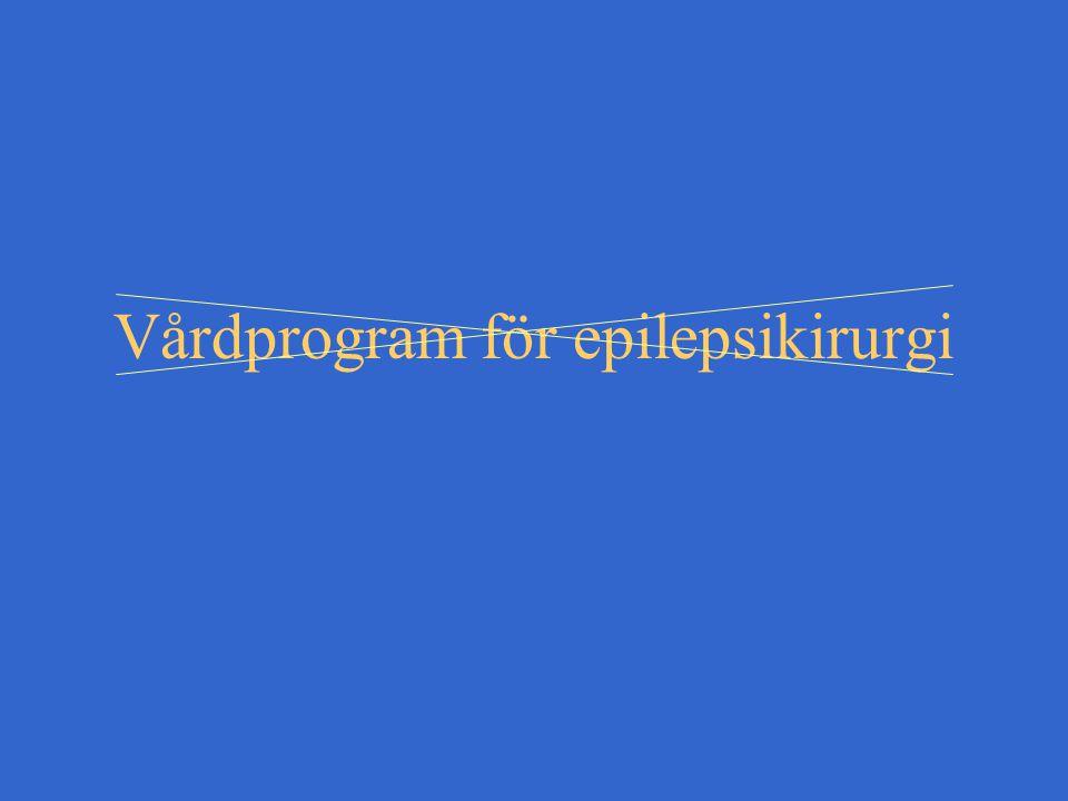 Vårdprogram för epilepsikirurgi