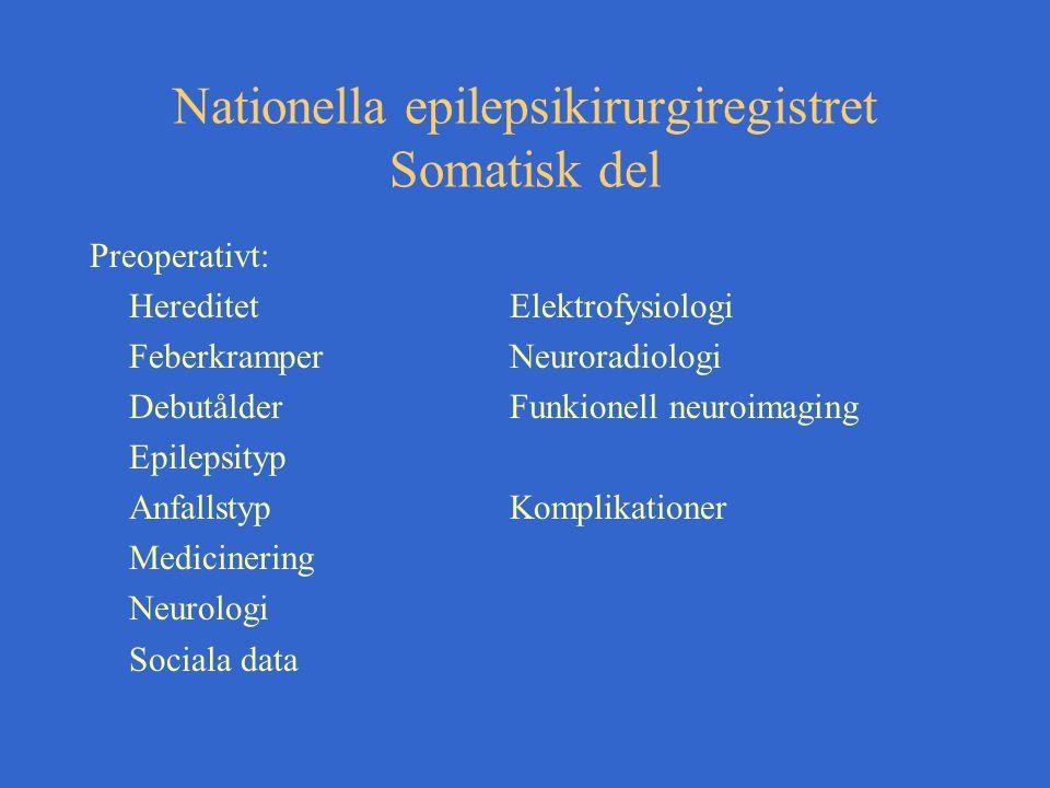 Nationella epilepsikirurgiregistret Somatisk del