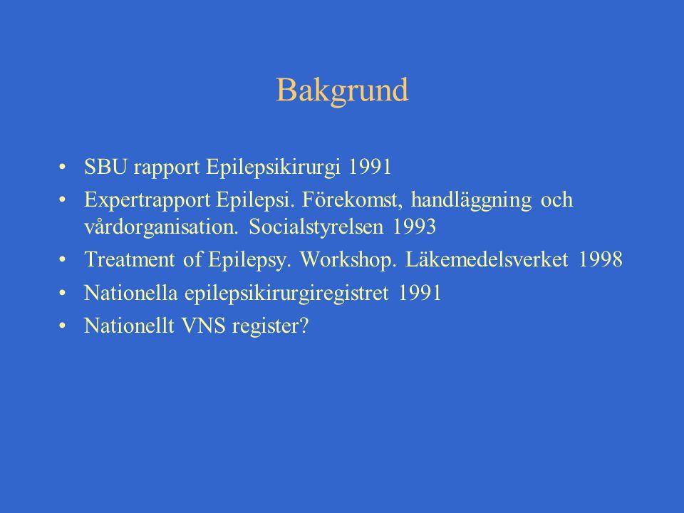 Bakgrund SBU rapport Epilepsikirurgi 1991