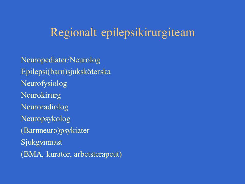 Regionalt epilepsikirurgiteam