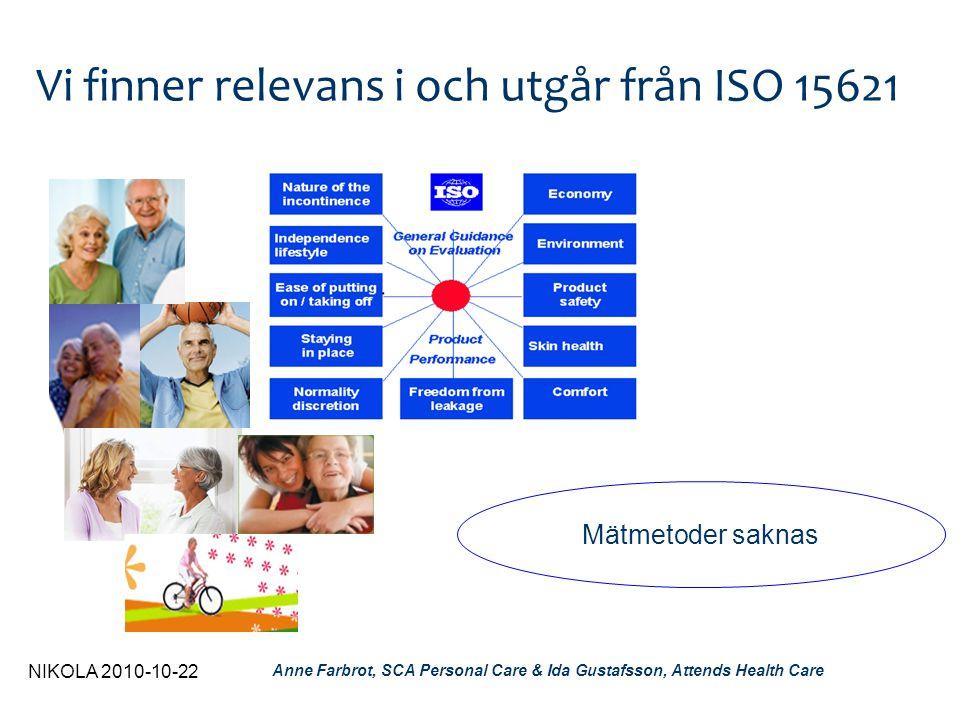 Vi finner relevans i och utgår från ISO 15621