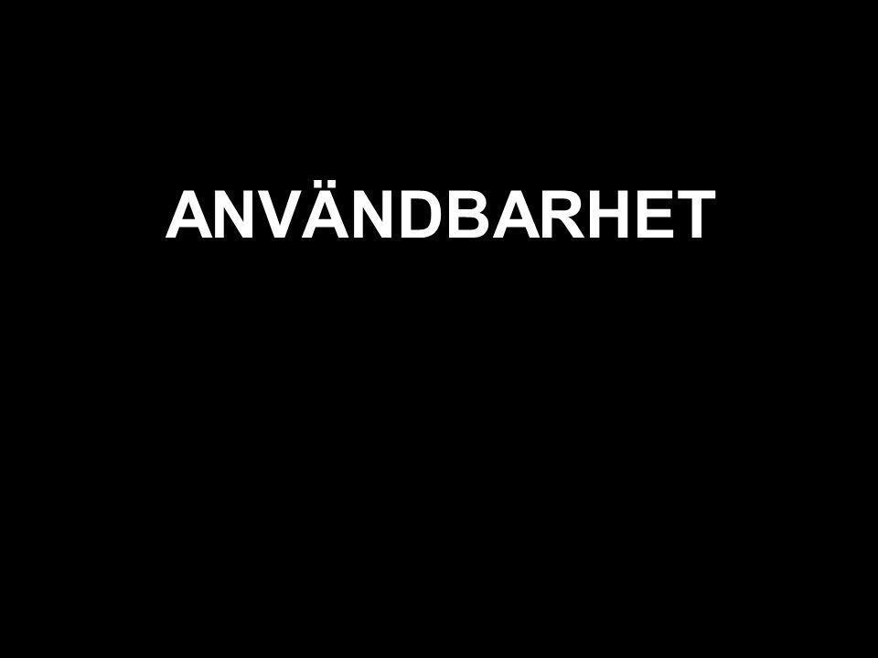 svart ANVÄNDBARHET