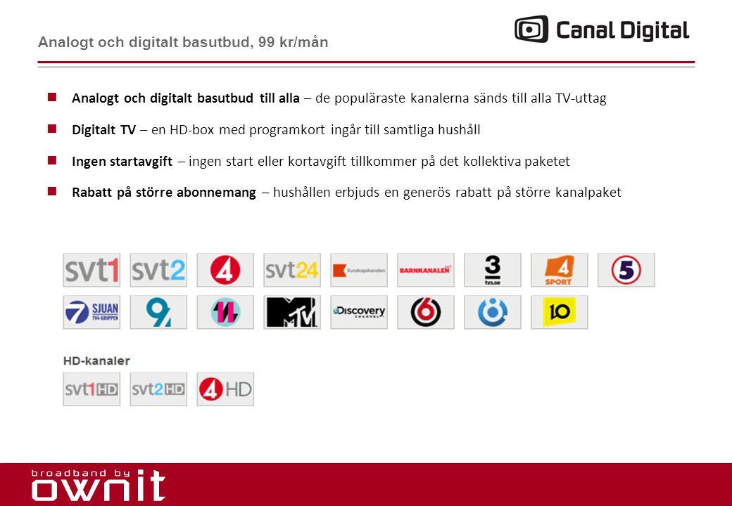 Analogt och digitalt basutbud, 99 kr/mån