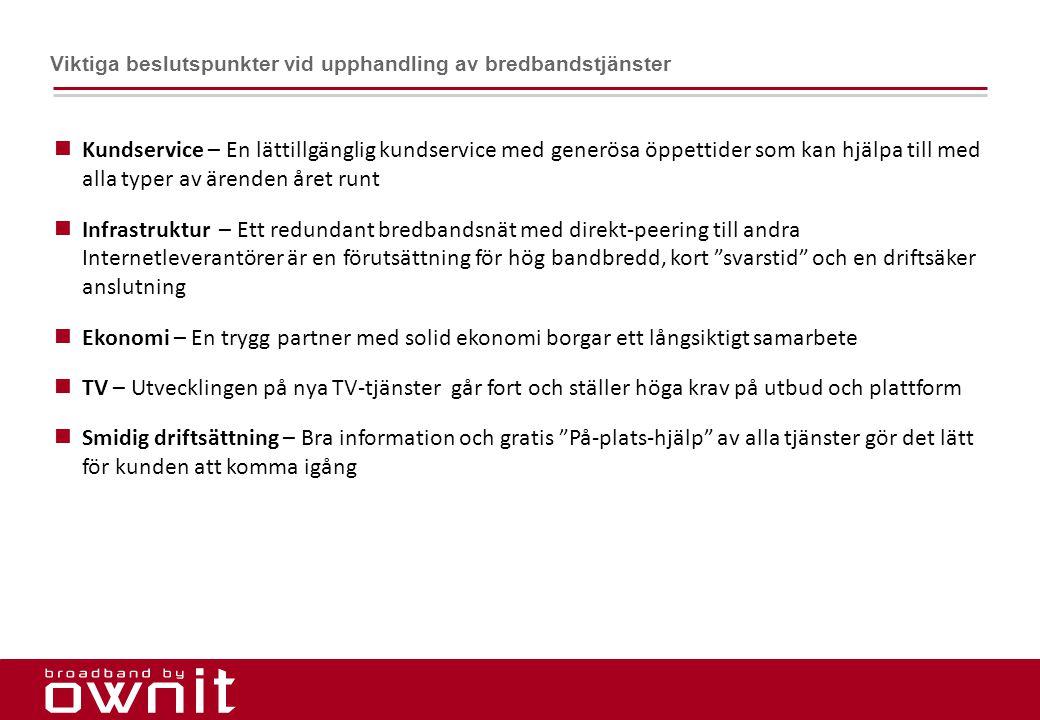 Viktiga beslutspunkter vid upphandling av bredbandstjänster