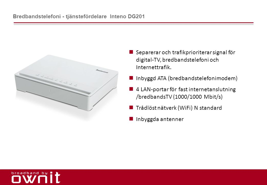 Inbyggd ATA (bredbandstelefonimodem)