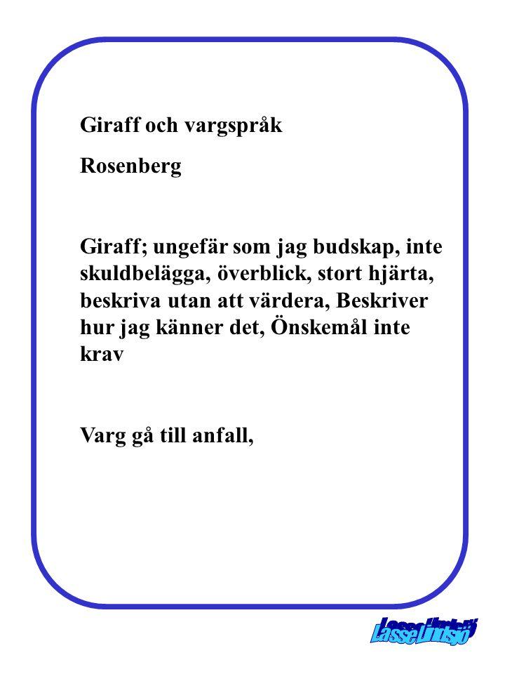 Giraff och vargspråk Rosenberg.