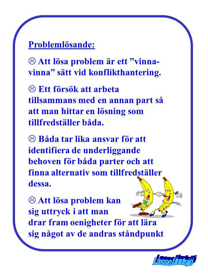 Problemlösande: Att lösa problem är ett vinna-vinna sätt vid konflikthantering.