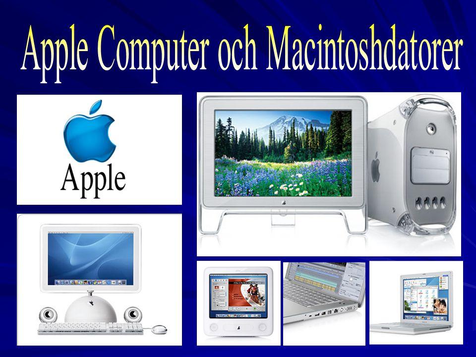 Apple Computer och Macintoshdatorer
