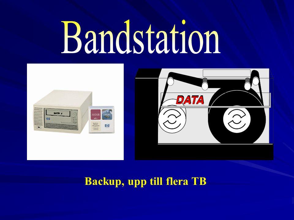 Backup, upp till flera TB