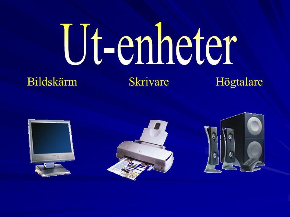 2017-04-03 Ut-enheter Bildskärm Skrivare Högtalare