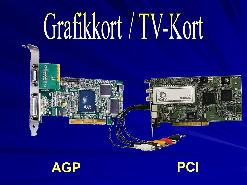 2017-04-03 Grafikkort / TV-Kort AGP PCI