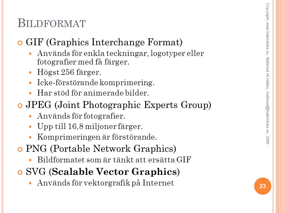 Bildformat GIF (Graphics Interchange Format)