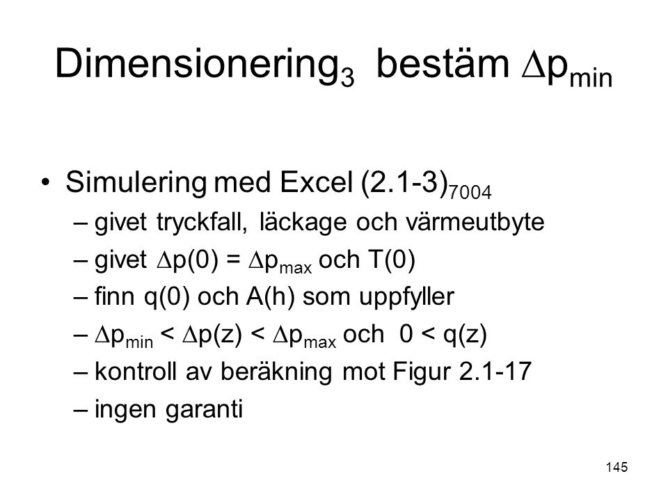 Dimensionering3 bestäm ∆pmin