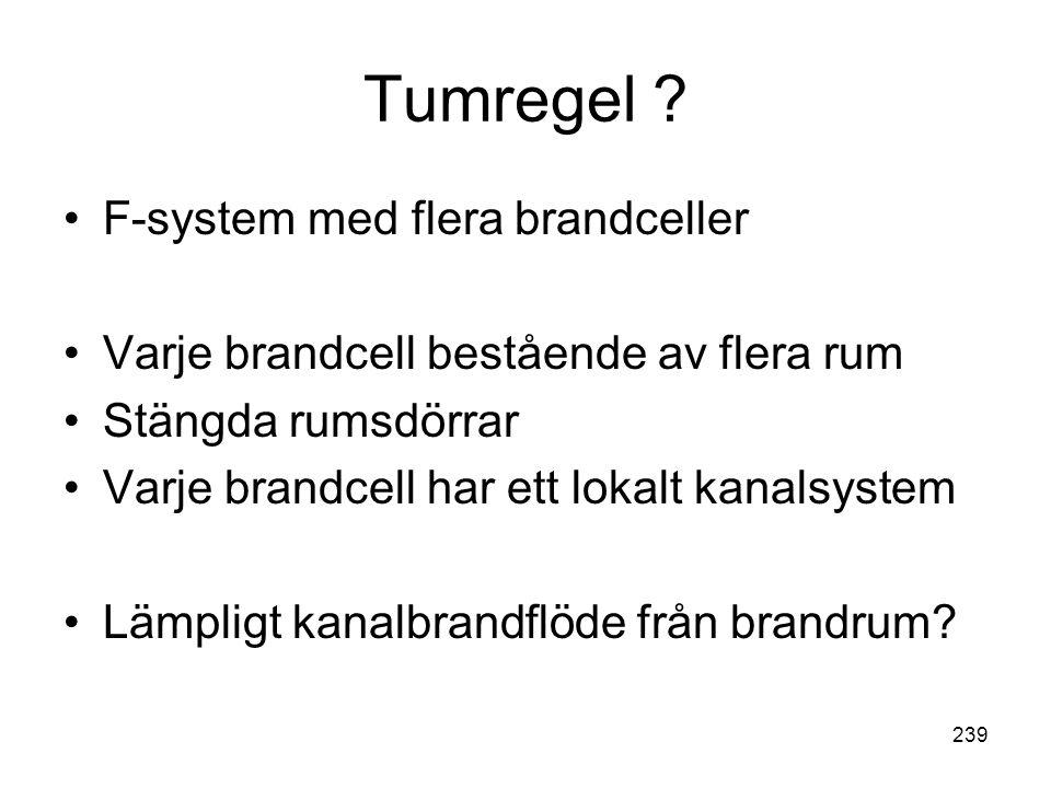 Tumregel F-system med flera brandceller