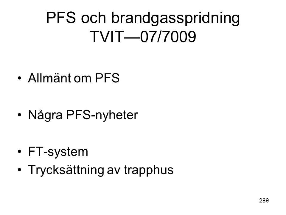 PFS och brandgasspridning TVIT—07/7009