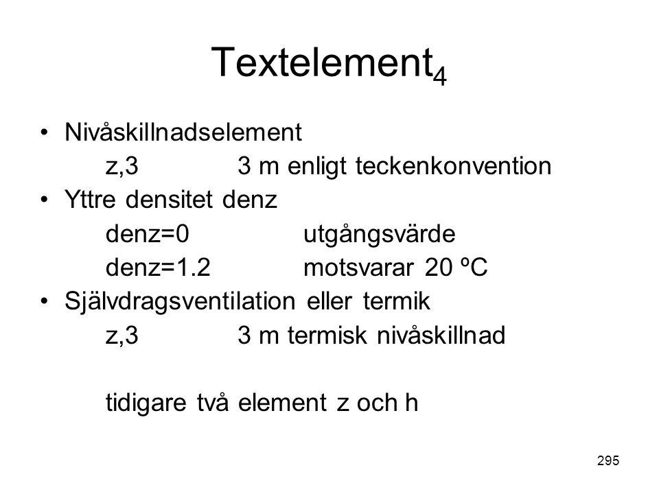 Textelement4 Nivåskillnadselement z,3 3 m enligt teckenkonvention