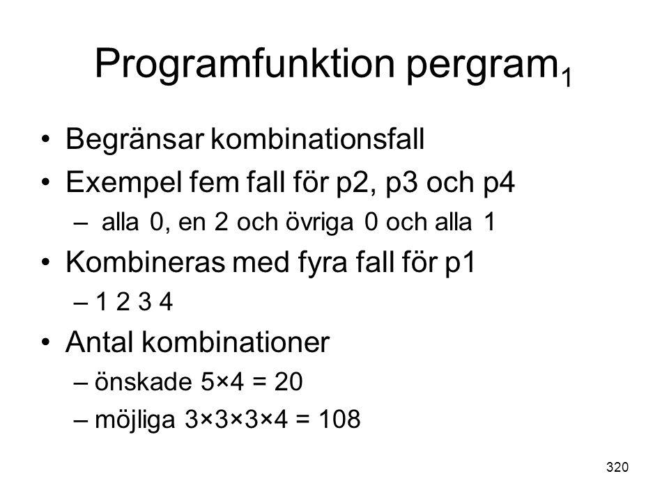 Programfunktion pergram1