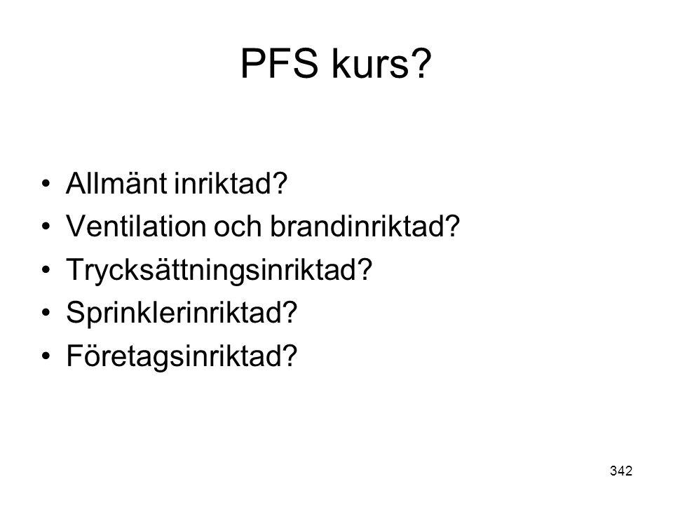 PFS kurs Allmänt inriktad Ventilation och brandinriktad