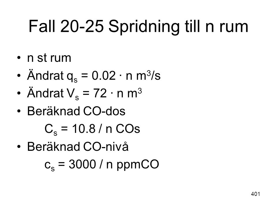 Fall 20-25 Spridning till n rum